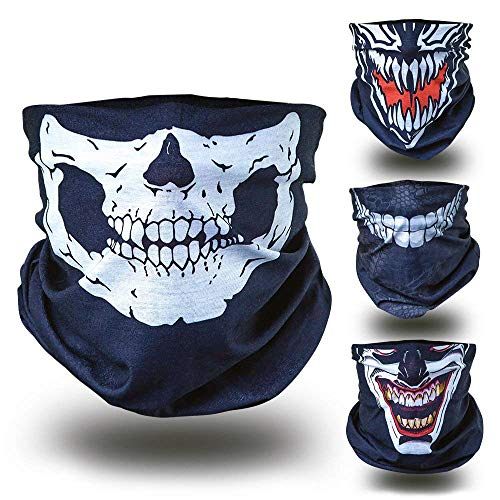 Totenkopf Skelett Skull Halloween Kostüm Multifunktionstuch Multifunktionsschal Schlauchmaske -