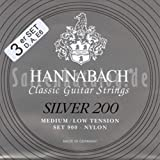 Hannabach 9007 MLT SILVER 200 Medium/Low, 3-Bass Set