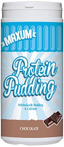 Maxum Protein Pudding Chocolate - 390 g Milcheiweiß Schokoladen Pudding mit Calcium - 79% Milcheiweiß für Muskelaufbau