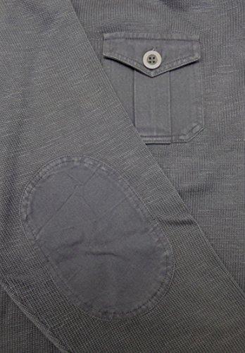 Kitaro Pullover Herren Baumwolle Grau Melange