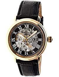 heritor automatic HR1704 - Reloj para hombres, correa de cuero color negro