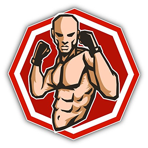 MMA Fighter Mascot Sport Hochwertigen Auto-Autoaufkleber 12 x 12 cm -