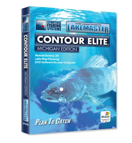 Lakemaster Contour Elite Mapping Software Michigan