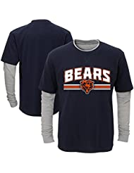 """Chicago Bears Youth Jeunes NFL """"Bleachers"""" L/S Faux Layer Thermal Shirt Chemise"""