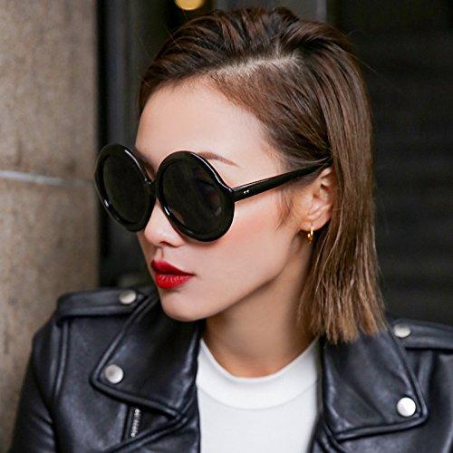 635f8c1eb6 VVIIYJ Gafas de Sol Mujer Grandes Cara Redonda Gafas de Sol Cara Larga Cara  Cuadrada,Caja Negra Negro