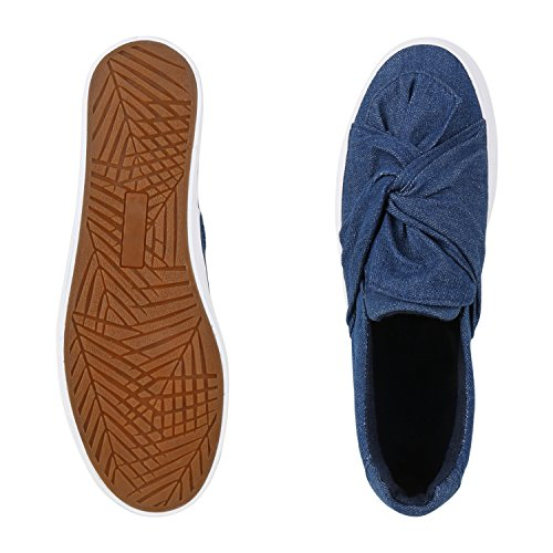 Sneakers Da Donna Alla Moda | Comodi Slip-on | Applicazioni Di Scintillio Scintillante | Plateau Annunciato | 36-41 Arco Blu Scuro