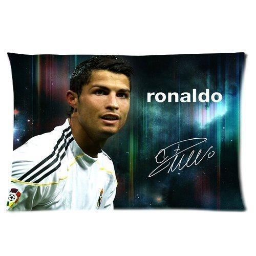 666PC Custom Real Madrid CF Superstar Cristiano Ronaldo CR7 Pillowcase Soft Zippered Throw Pillow Cover Cushion Case Covers Fasfion Design Printed Kissenbezüge (35cmx50cm) (Real Skins Madrid)