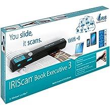 I.R.I.S. IRIScan Book Executive 3 - Escáner de documentos (900dpi, sensor CIS, 216 x 355 mm, 24 bit), negro y cian