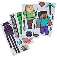 Paladone Minecraft Decals, Removable Vinyl Wall Stickers, 4 Sheets