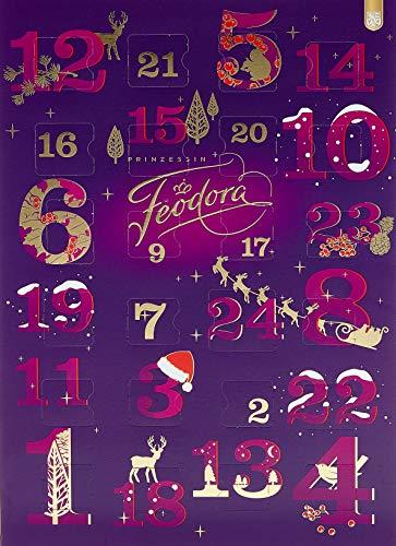 Feodora Adventskalender Zahlenspiel Edle Pralinés und Vollmilch-Hochfein Chokolade