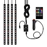 Leoboone 5050-18smd Éclairage intérieur sans fil pour voiture avec télécommande musique/commande vocale