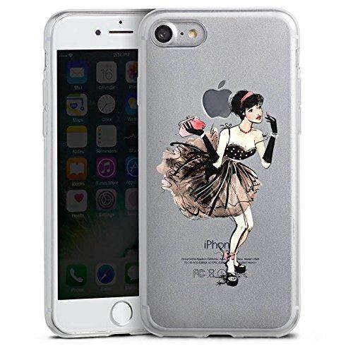 Apple iPhone 8 Plus Slim Case Silikon Hülle Schutzhülle Frau ohne Hintergrund Französisch Silikon Slim Case transparent
