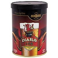 Diablo ipa Poids net 1300g (1,3kilogram) Cette recette va produire 2gallons de bière en environ 2semaines une fiendishly hopped American ipa. Fiery orange en couleur avec intense mouthfeel, affichant un mélange d'épices et arômes stonefruit flora...