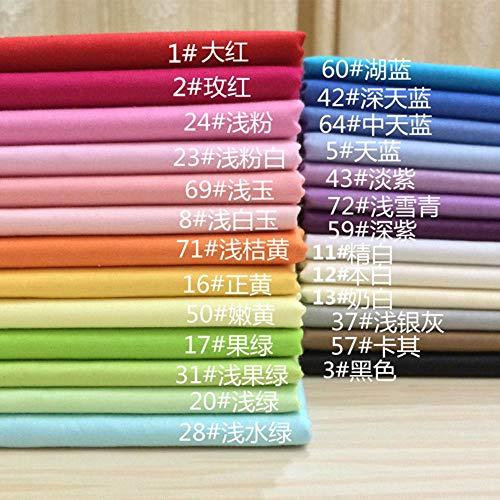 160 cm x 50 cm, einfarbiger Baumwollstoff für Babybettwäsche/Patchwork-Stoff/Quilten/Bettwäsche, Farbe 57 -
