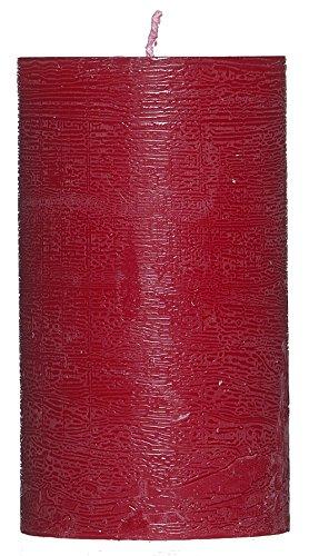 Smart Planet® Velas Ambiente-12cm grandes Cirio Rustic-Schöne Vela para decoración con gewischter superficie-Color Rojo
