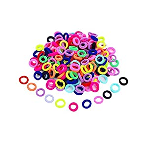 BeautifyU Girl's Elastic Hair Ties (Assorted) – 100 Pcs