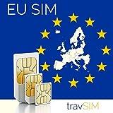 Europäische Union 12GB + 3000 Min Telefonie Prepaid SIM Karte (EU Länder + Schweiz) für 30 Tage