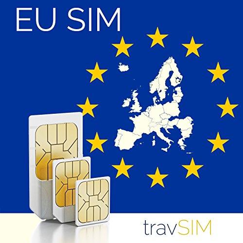 Europäische Union 9GB + 3000 Min Telefonie Prepaid SIM Karte (EU Länder...