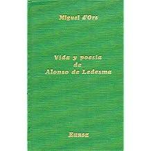 Vida y poesía de Alonso de Ledesma: contribución al estudio del conceptismo español (Publicaciones del Departamento de Literatura Española)