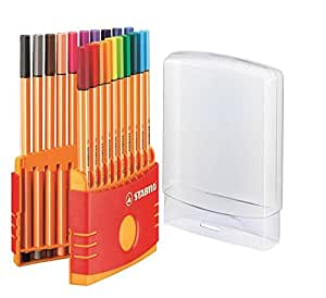 STABILO point 88 ColorParade Desk Set Containing of 20 colours - Fineliner