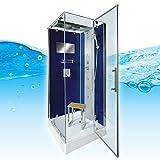 AcquaVapore DTP6038-0200R Dusche Duschtempel Komplett Duschkabine 80x80, EasyClean Versiegelung der Scheiben:2K Scheiben Versiegelung +99.-EUR