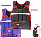 XN8 Weighted Vest Jacket Weight Loss Fitness Training Running Vest Loss (Black and Red, 15kg)