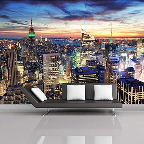 Meaosy Benutzerdefinierte Wandbild Tapete Europäischen Stil 3D Pic New York City Schlafzimmer Wohnzimmer Tv Hintergrund Fototapete Wohnkultur-200X140Cm