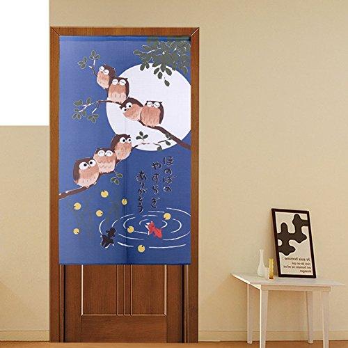 GHAMXRQJXIDJA Die Eule,Polyester,Stricken,Vorhang/einzigen,drucken,Japanese-Style,Wand Vorhang/Schlafzimmer Vorhang/hängende vorhänge-B 85x150cm(33x59inch)