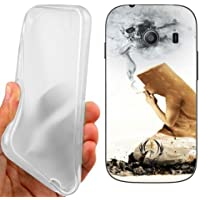 CUSTODIA COVER CASE SKULL CIGARETTES PER SAMSUNG GALAXY ACE STYLE G310
