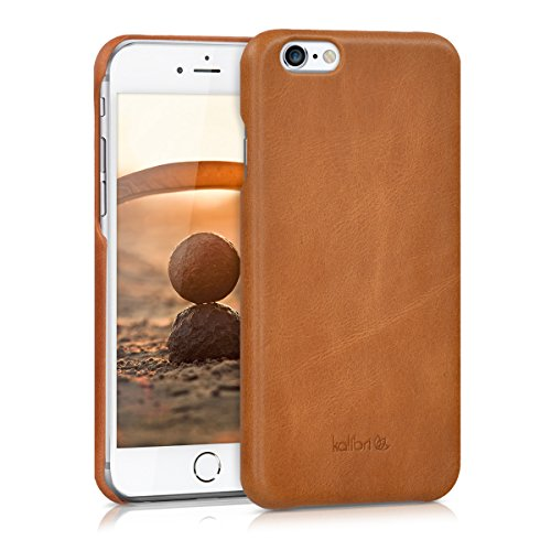 kalibri Apple iPhone 6 / 6S Hülle - Leder Handy Cover Case - Hardcover Schutzhülle für Apple iPhone 6 / 6S