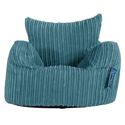 Lounge Pug®, Puff Sillón para niños, Pana Clásica - Egeo Azul