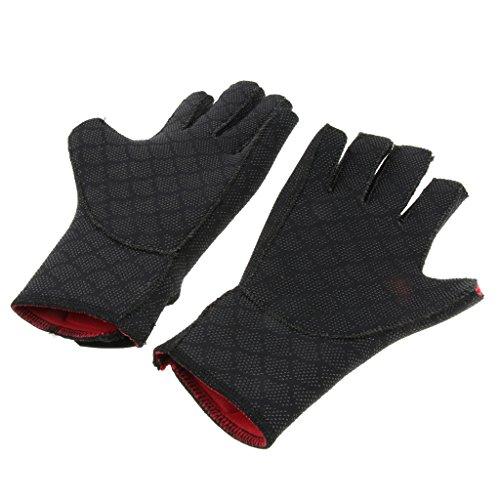 Baoblaze Fingerlose Handschuhe für Wassersport wie Tauchen Schnorcheln Surfen, schwarz - S