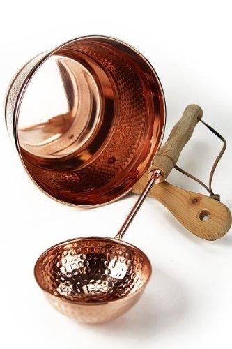 CopperGarden' kupferner Saunaeimer, handgearbeitet mit Schöpfkelle - Schwalleimer aus...