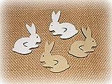 Streudeko 'Hasen' aus Holz 24er-Set