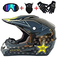 Leopard Full Face Off Road Motocross Quad Crash Casco ECE Downhill Dirt Bike Para Harley Davidson / Kawasaki / Yamaha / Suzuki / Honda / Triumph / BMW MX ...
