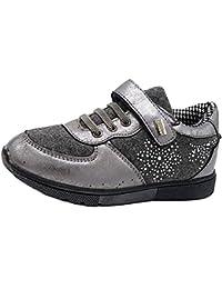 Shoes scarpe bimba bambina autunnali invernali sportive da ginnastica casual comode con lacci pagliettata colore oro qIL4zPw