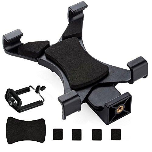 Cymax Universal Tablet Stativadapter Halterung Halter Clip Mount Adapter Mit Smartphone Stativ-Halterung für Selfie Stick Stange Kamera Stativ Tripod, Inklusive 1/4