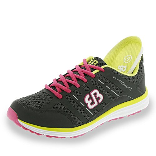Bruetting - Effect, Scarpe fitness Donna anthrazit-pink-gelb