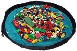 Alfombra de juegos para niños y bolsa para almacenar juguetes de Bow-Tiger - Alfombra de actividades multiuso que se transforma en un organizador portátil de juguetes. ¡Asegúrate de que tu hijo