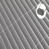 Sichtschutz Windschutz PVC (1,0m x 4m, anthrazit)