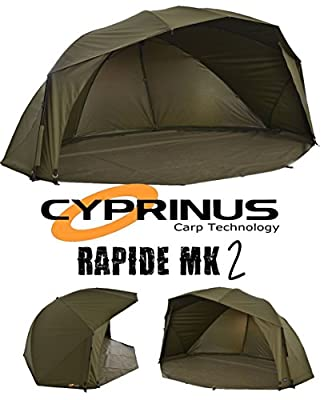 "Cyprinus Rapide MK2 55"" 20,000HH Carp Fishing Brolly Shelter Bivvy RRP £279.99 from Cyprinus"
