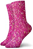 fyehf 0859 Chaussettes Crew Rose Neon Light Color Chaussettes Athlétiques Personnalisées Anti Bacterial Odor Cushion Short Boot Stocking & 538