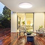 Tonffi LED Deckenlampe, Deckenleuchte für Badzimmer, Deckenleuchte, Balkonleuchte, Balkonlicht, Badezimmerleuchte, Badezimmerlampe, Innenleuchte, Außenleuchte, 30W, 370 * 60MM, 6000K, 2700LM
