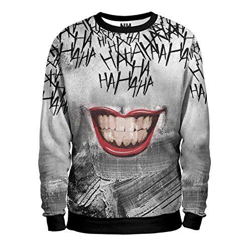 JOKER SMILE - Suicide Squad Sweatshirt Man - Felpa Uomo - DC Comics Batman Joker Gotham Film T-Shirt