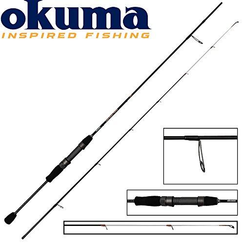 Okuma Light Range Fishing UFR 185cm 1-7g Spinnrute , leichte Spinnruten für Barsch & Forellen, Ultraleicht Rute, Ultralight Angelrute, leichtes Spinnfischen