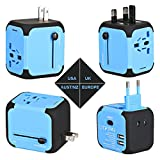 Reiseadapter AC-Ladegerät Adapter All in One US UK EU AU Stecker...