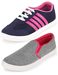 Ethics Perfect Combo Pack of 2 Premium Sneakers Shoes for Women