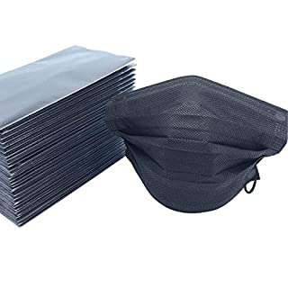 Butterme 50 Pcs Disposable Medical Surgical Four Layer Activated Carbon Filter Face Masks Anti-Dust Anti-fog Anti-Haze Anti-Virus Earloop Mouth Face Muffle