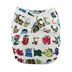 LBB(TM) Baby Resuable Washable Cloth Pocket Diaper,New Print Design for Christmas ,Cute Letter