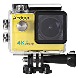 Andoer Ultra HD Action-Sport-Kamera 2.0 LCD 16MP 4K 25FPS 1080P 60FPS 4-fach Zoom WiFi 25mm 173 Grad-Weit Objektiv Wasserdicht 30M Auto-DVR DV Cam Tauchen Fahrrad Outdoor Activity